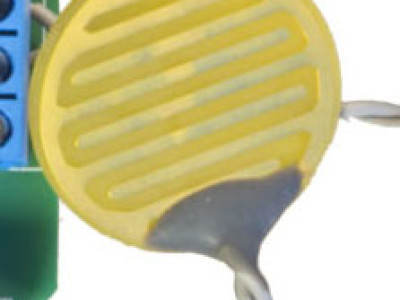 The gold plated electrode used in this project