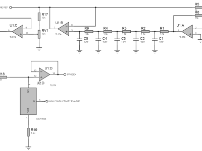 7 kHz 50 mVolts sine wave source with its 1:10 reduction switch