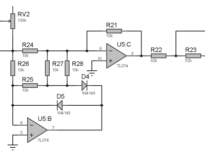 RMS converter for the reference channel