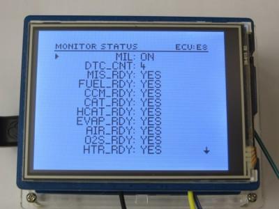 Monitor Status List Menu