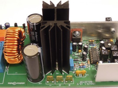 Power supply connections of the200W Class-D Audio Power Amplifier 150115-1 v2.1