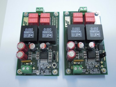 Transmitter and receiver top view (2 x PCB 160119-1 v1.0)
