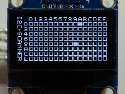 "Micro I2C-Scanner with 0.96"" Oled and ATtiny44"