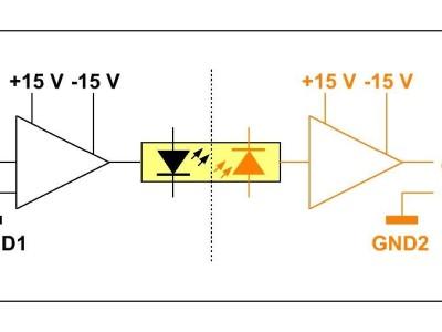 Optically Isolated Unbalanced Audio Line Level Amplifier