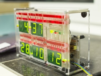 DCF Timecode Visualisation Clock