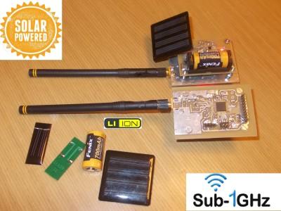 10Km SubGHz RadioTransceiver with Energy Harvesting Power Supply