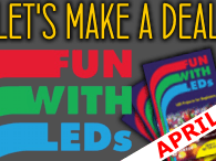 """1x Project in April = 1x """"Fun with LEDs"""" book"""