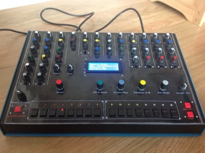 Analog Drum Box with Built-In Sequencer & MIDI control