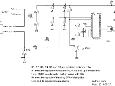 Simple Wattmeter (for AC 230V)