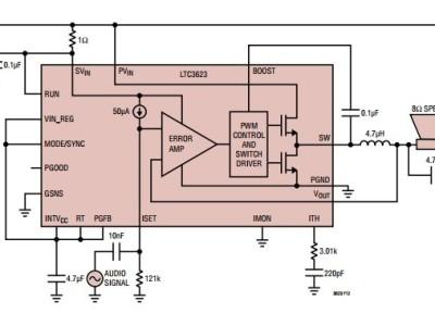 Régulateur à découpage et ampli audio en classe D ?