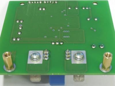 Bottom view PCB Potentialfreie Strommessung für Oszilloskope topoverlay (150170-1 v1.0)