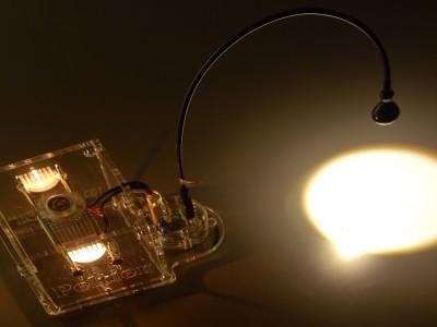 Peltier lamp during operation, enclosure no. 2