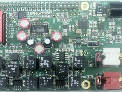 Top view of prototype of Audio DAC (160198-1 v1.0)