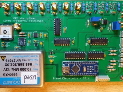 GPS assisted 10 MHz frequency reference