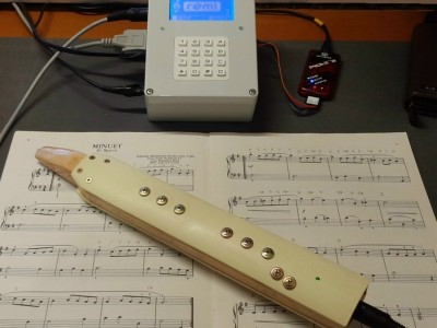 Recorder-like Electronic Musical Instrument and MIDI Controller
