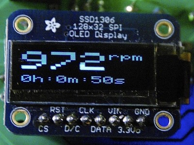 Tacho/RPM for CNC etc using Arduino Micro and OLED Display [130470-I]