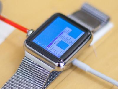 Windows 95 op een Apple Watch