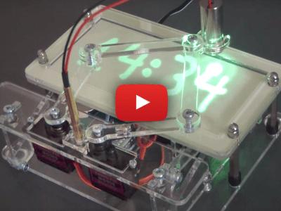 Arduino gestuurde Laser Tijdschrijver