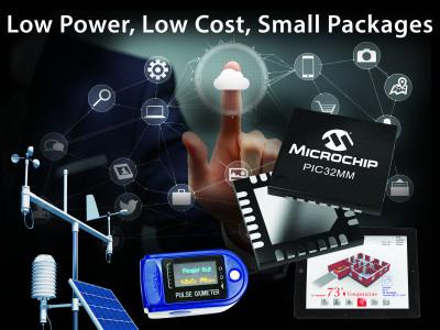 Energiezuinige PIC32MM-serie van Microchip