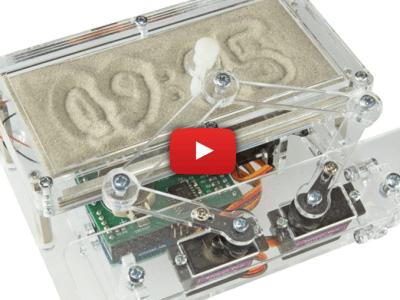Schrijf de tijd in het zand met de Arduino Zandklok