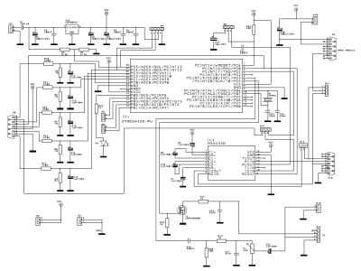 Circuit diagram of the sounding balloon data acquisition board.
