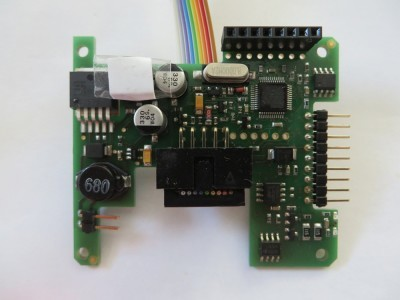 Prototype of DIAMEX Pi-OBD add-on board
