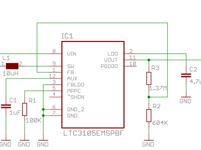 Circuit Diagram of the voltage booster circuit
