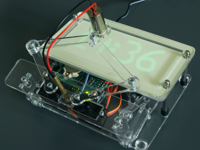 Laser Plot Clock