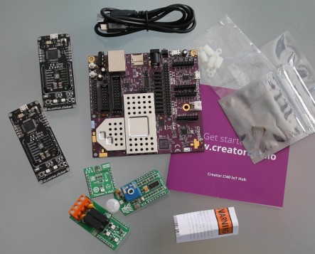 Creator Ci40 IoT kit unpacked