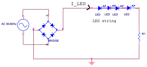 Simple LED full wave rectifier driver