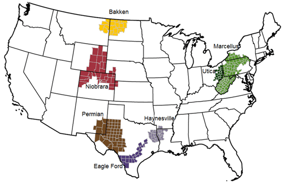 Map-1 US Shale/Tight resources in various regions. Source: EIA web-site