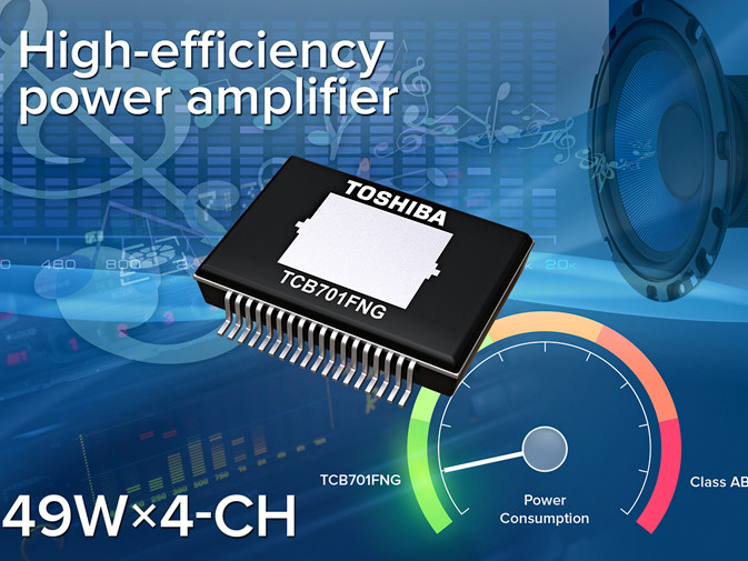 4-channel class AB amp from Toshiba