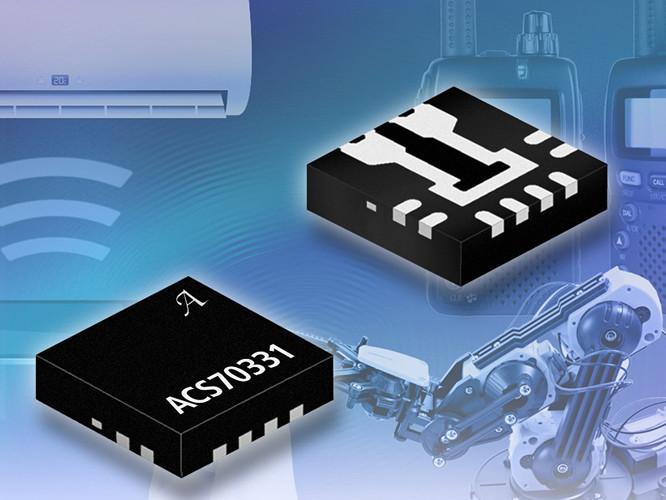 Sonde de courant GMR IC ACS70331. Illustration: Allegro MicroSystems.