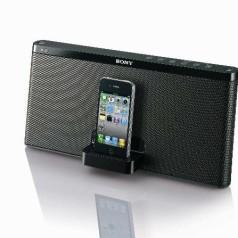 Draagbare iPod-docks bij Sony