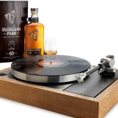 Exclusieve Linn-platenspeler met whiskygeur