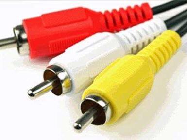Composiet video - herkenbaar aan de geelgekleurde connector - levert een erg beperkte beeldkwaliteit.