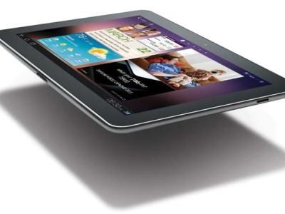 Samsung haalt de Galaxy Tab 7.7-tablet, de kleinere broer van deze 10.1-versie, weg uit de IFA-stand.