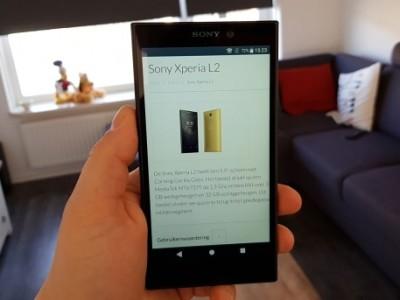 Review: Sony Xperia L2 – goedkope smartphone die ook goedkoop aanvoelt