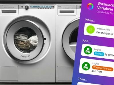 Smarthome scenario: krijg een melding als de wasmachine klaar is