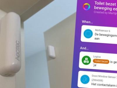 Smarthome scenario: Zo automatiseer je de verlichting in het toilet