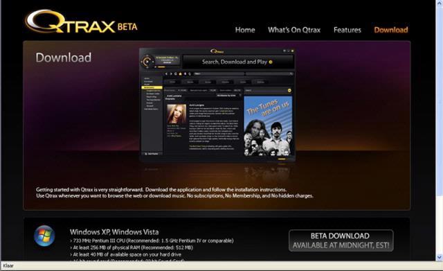 Nog geen gratis muziek op Qtrax