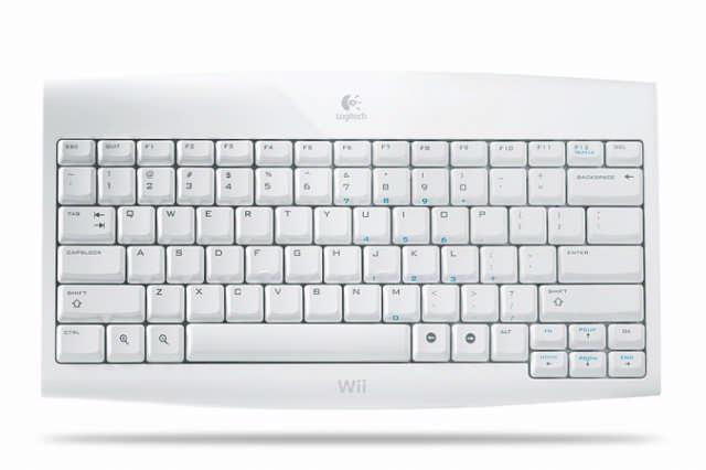 Typisch Wii: Draadloos toetsenbord van Logitech