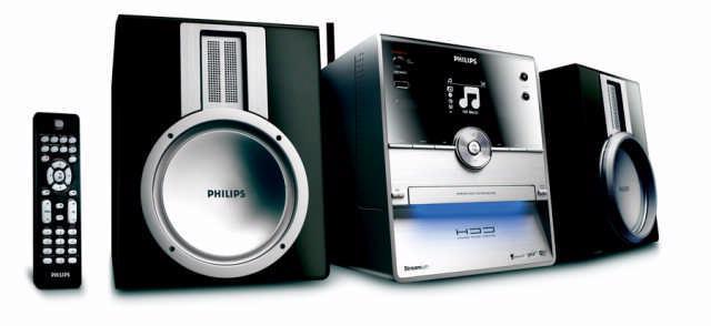 De Philips Streamium WAC3500D is een alles-in-één-oplossing die zowel met de eigen harde schijf als een muziekserver om kan gaan.