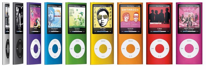 De nieuwe iPod nano is nu verkrijgbaar in vele kleurtjes.