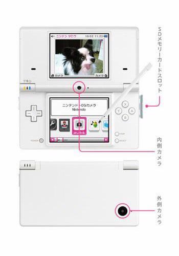 De Nintendo DSi heeft een SD-kaartsleuf en twee cameraatjes.