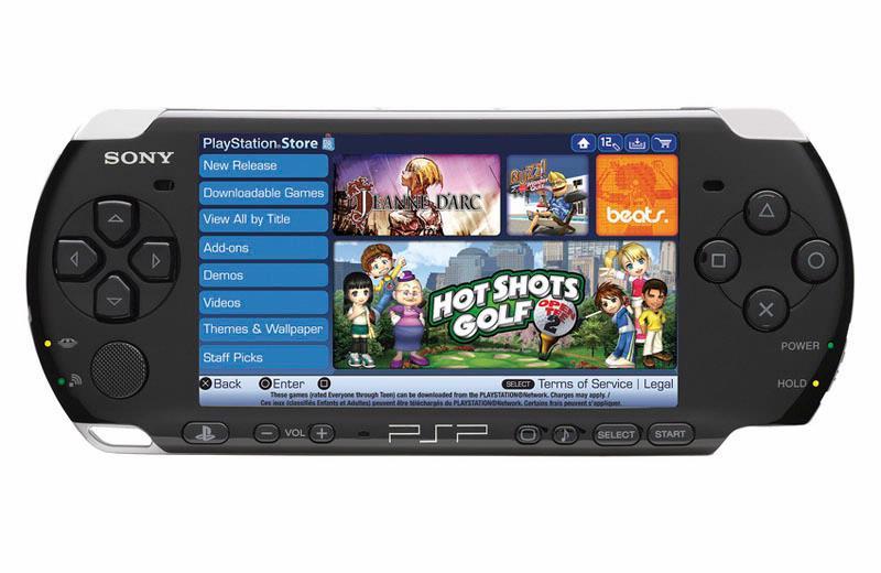 De Playstation Store op de PSP, na de update naar firmware 5.0.
