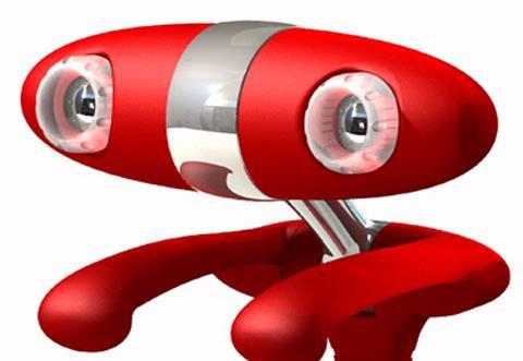 Door zijn twee lenzen kan de Minoru 3d-webcam driedimensionaal beeld uitzenden.