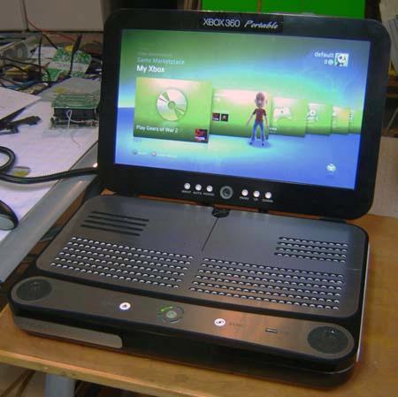 Hacker verandert Xbox 360 in laptop