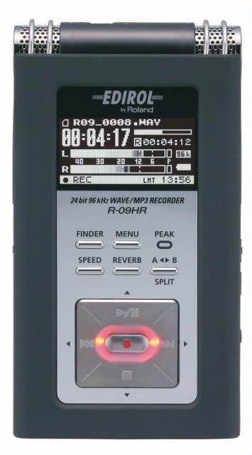 Dankzij de efficiënte interface en de grote knoppen is de Edirol R-09HR een eenvoudig te bedienen geluidsrecorder.