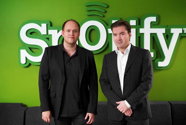 Daniel Ek en Martin Lorentzon, oprichters van Spotify (Foto: Spotify)